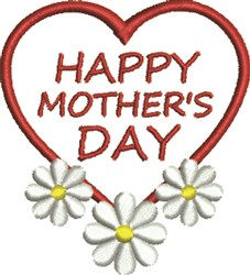 Mother's Day Flowers embroidery design