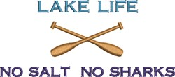 Lake Life Oars embroidery design