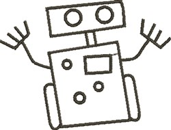 Robot Outline embroidery design