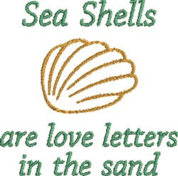 Seashells Are Love Letters embroidery design