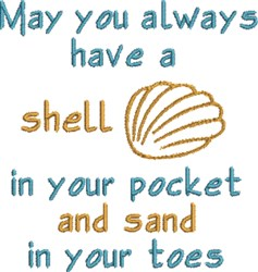 Seashell In Your Pocket embroidery design