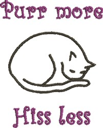 Sleeping Cat Outline embroidery design