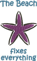 Purple Starfish embroidery design
