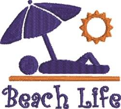 Sunbather Beach Life embroidery design
