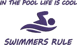 Swimmers Rule embroidery design