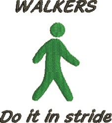 Walkers In Stride embroidery design