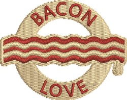 Bacon Love embroidery design