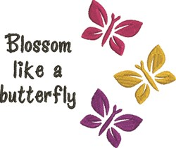 Blossom Like A Butterfly embroidery design