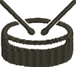 Snare Drum Outline embroidery design