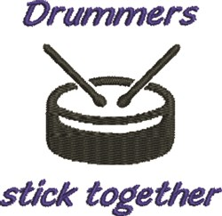 Drummers Stick Together embroidery design