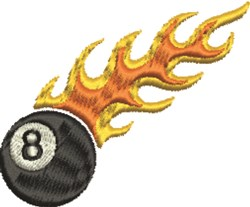 Flaming 8 Ball embroidery design