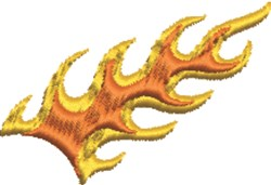 Flame Trail embroidery design