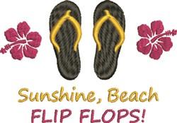 Sunshine & Flip Flops embroidery design