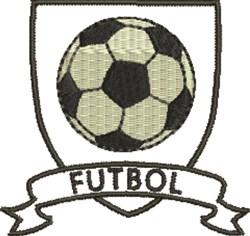 Soccer Crest Futbol embroidery design
