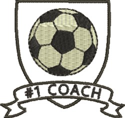 Soccer #1 Coach embroidery design