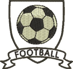 Soccer Crest Football embroidery design