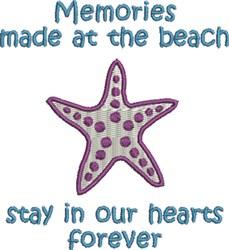 Starfish Memories embroidery design
