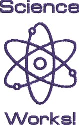 Science Works embroidery design