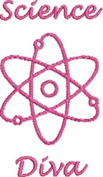 Science Diva embroidery design