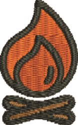 Campfire embroidery design