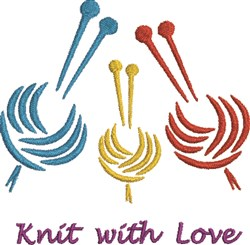 Knit With Love embroidery design