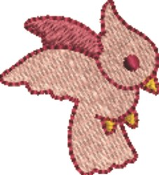 Red Bird embroidery design