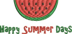 Happy Summer Days embroidery design