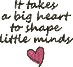 Big Heart Little Minds embroidery design