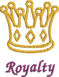 Royalty embroidery design