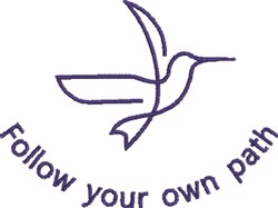 Follow Your Path embroidery design