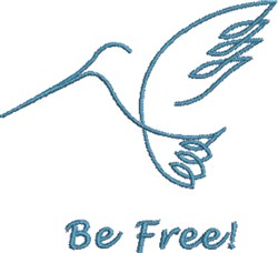Be Free embroidery design