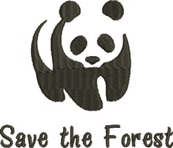 Save The Forest embroidery design