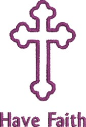 Have Faith Crucifix embroidery design