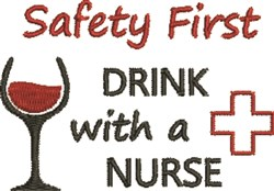 Safety Nurse embroidery design