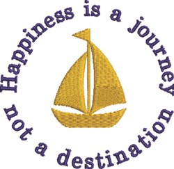 Happiness Is A Journey embroidery design