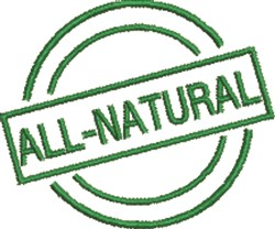 All-Natural Seal embroidery design