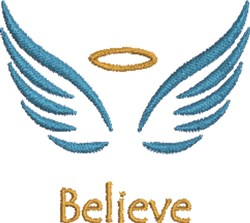 Angel Wings & Halo embroidery design