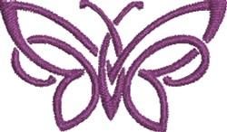 Purple Swirl Butterfly embroidery design