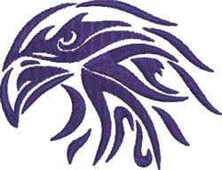 Artistic Eagle Head embroidery design