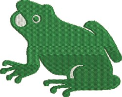 Cute Cartoon Frog embroidery design
