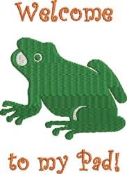 Cute Cartoon Frog embroidery design