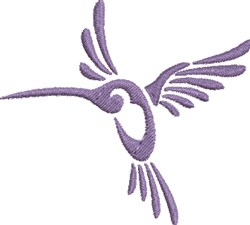 Purple Hummingbird embroidery design
