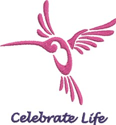 Pink Hummingbird embroidery design