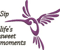 Purple Hummingbird embroidery design