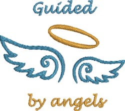 Angel Wing Outline embroidery design