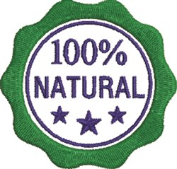 100% Natural Seal embroidery design