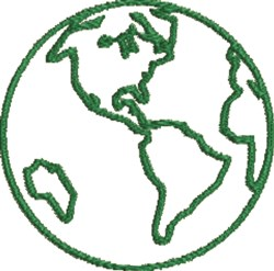 Globe Outline embroidery design