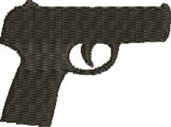 Handgun Silhouette embroidery design