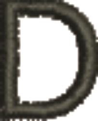 Monogram Letter D embroidery design