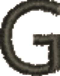 Monogram Letter G embroidery design